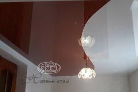 натяжной потолок шовный двухцветный