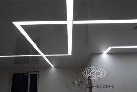 световая линия на потолке