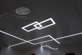 световые линии натяжного потолка
