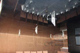 черный натяжной потолок, ресторан