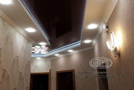 черные натяжные потолки с подсветкой, коридор