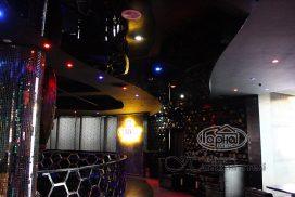 натяжной потолок черный цвет, диско-клуб