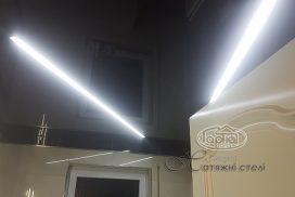 натяжной потолок подсветка, линиями, замена светильникам