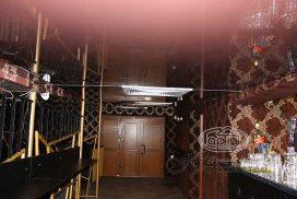натяжні стелі, коричневий колір, ресторан