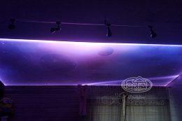 натяжные потолки звездное небо, фото double vision