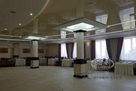 глянцевый потолок с подсветкой, Луцк Рестпарк