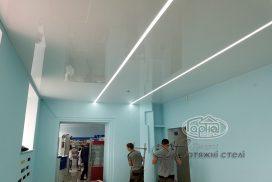 натяжные потолки подсветка в аптеке, Волиньфарм