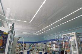 парящие световые линии в аптеке