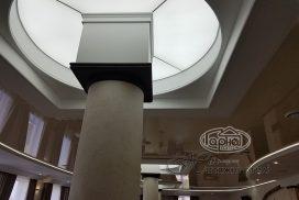 подсветка на потолке, парящий потолок