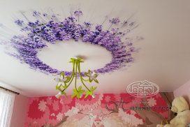 фотопечать на натяжных потолках, цветы