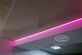led подсветка на натяжном потолке