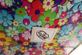матовый натяжной потолок с рисунком в детской комнате