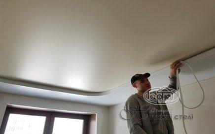монтаж двухуровневого натяжного потолка, луцк