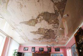 натяжной потолок с фотопечатью, карта