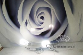 натяжной потолок с фотопечатью, в ванной