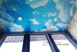 натяжные потолки небо в квартире