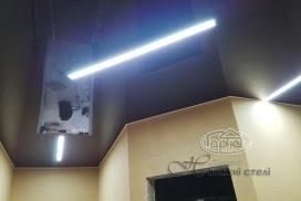 натяжные потолки подсветка в квартире
