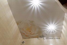 натяжные потолки с фотопечатью, цветы