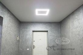 подсветка, квадраты на натяжном потолке