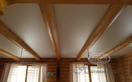 Натяжні стелі в дерев'яному будинку фото і поради