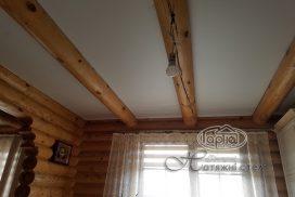 дерев'яний будинок і натяжна стеля