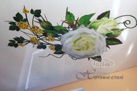 глянцеві натяжні стелі квіти