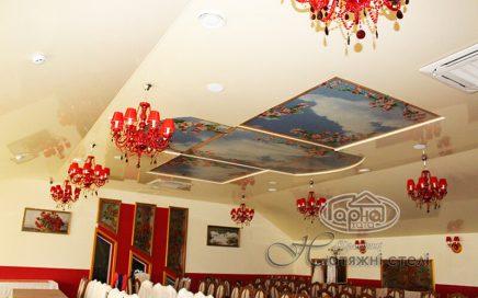 натяжные потолки для ресторана