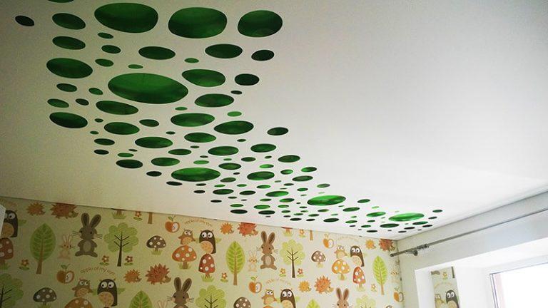 Резные натяжные потолки, фото